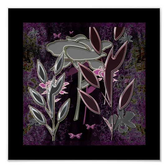"""""""Silk Flowers and Purple Lace""""* Poster"""