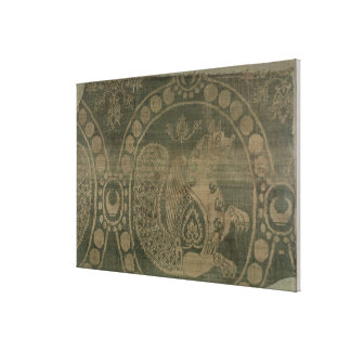 Silk fragment showing the 'Senmurv' Gallery Wrap Canvas