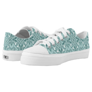 Silk Mint-Cool Low-Tops Printed Shoes