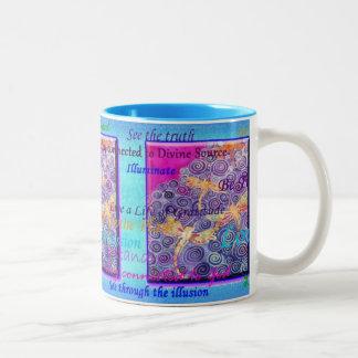 SIlk Painted Dragonfly Affirmation Mug by Cyn Mc