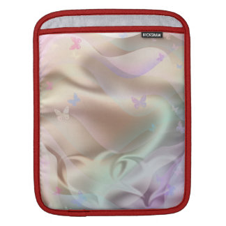 Silk pink heart iPad sleeve
