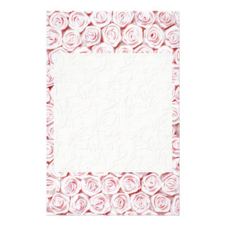 Silk pink rose wallpaper stationery