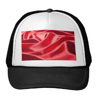 silk silky chic red pink cafe style textile love trucker hat