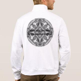 Silk Silver Glow Printed Jacket