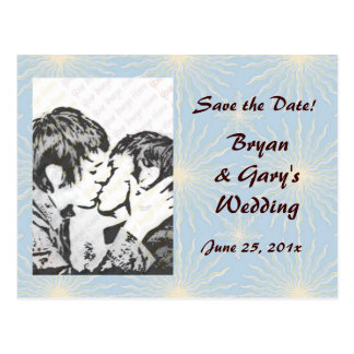 Silk Tones WEDDING Save The Date Postcard