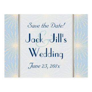 Silk Tones WEDDING Save The Date Postcard
