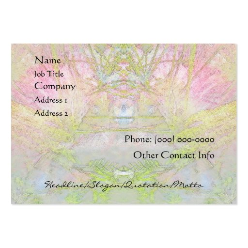 Silk Tree Spa and Salon Profile Card Business Card Template