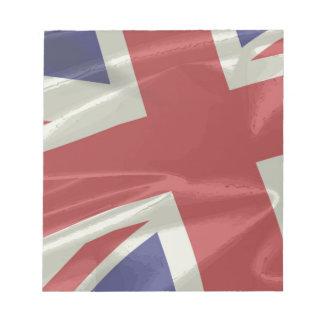Silk Union Jack Flag Closeup Notepads