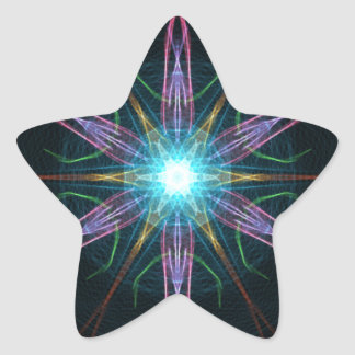 Silk Weave Star Sticker