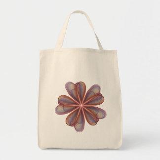 Silken Flowers Wedding Grocery Tote Bag