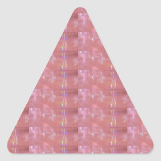 SILKEN Pink Weave Graphic Pattern Triangle Sticker