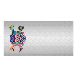 Silken Silver Base n Art101 Graphic Skull Sparkle Custom Photo Card