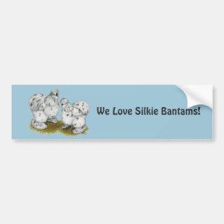 Silkie Bantam Splash Chickens Bumper Sticker