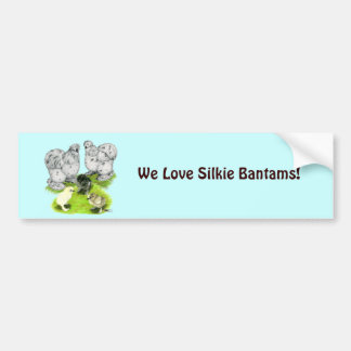 Silkie Bantam Splash Family Bumper Sticker
