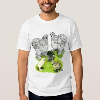 Silkie Bantam Splash Family T-shirt