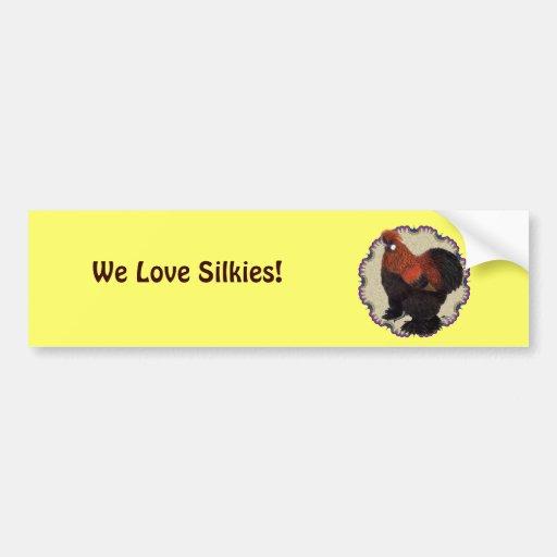 Silkie Circle Bumper Stickers