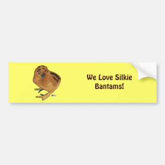 Silkie Red Chick Bumper Stickers