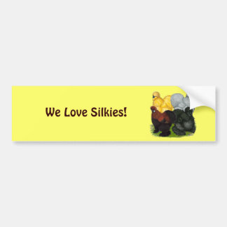 Silkies:  Assorted Roosters Bumper Stickers