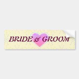 Silktones Cream Wedding Bumper Sticker