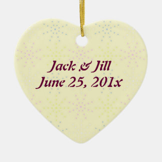 Silktones Cream Wedding Christmas Ornament