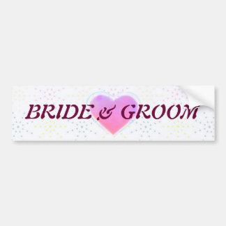Silktones Dotty White Wedding Bumper Sticker