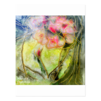 Silky Almond Flower Postcard