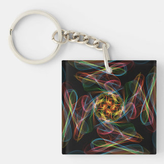 Silky Single-Sided Square Acrylic Keychain