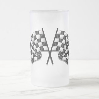 Silky looking Motorsport chequered flag gear Coffee Mugs