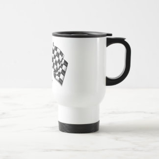 Silky looking Motorsport chequered flag gear Mug