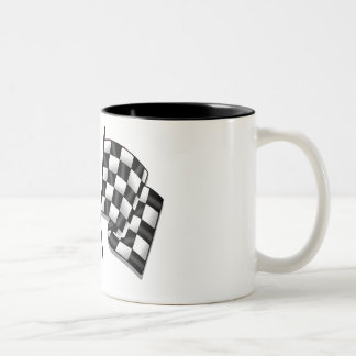 Silky looking Motorsport chequered flag gear Coffee Mug