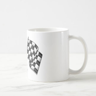 Silky looking Motorsport chequered flag gear Mugs