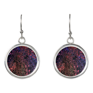 Silky Marble/Purples Design Earrings