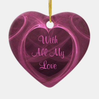 Silky Pink Heart Keepsake Christmas Ornament