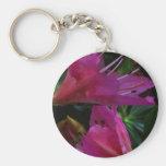 Silky PINK Sensual Flowers : Greetings n Goodluck Keychains