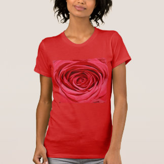 Silky Red Roses Petals Romantic Flowers Floral Shirt