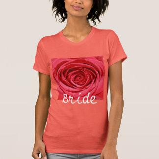 Silky Red Wedding Roses Pagan Weddings Bride T Shirt