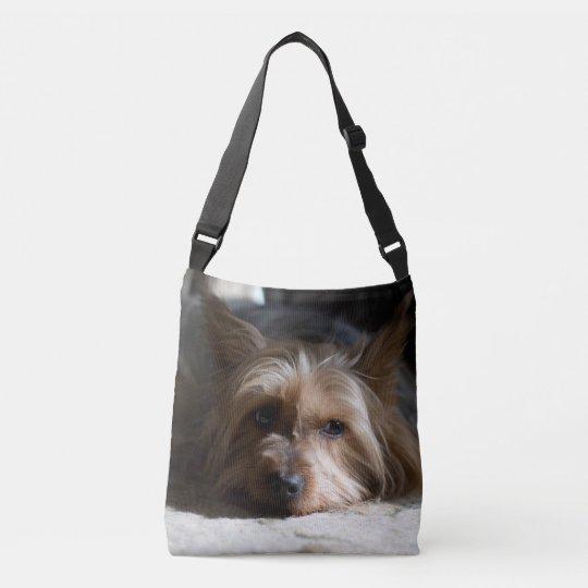 Silky Terrier allover print cross body bag tote