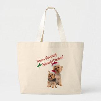 Silky Terrier Christmas Wishes Jumbo Tote Bag
