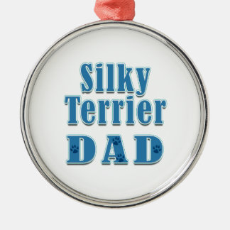 Silky Terrier Dad Christmas Ornament