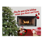 Silky Terrier Holiday Wishes Postcard