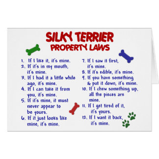 SILKY TERRIER Property Laws 2 Card
