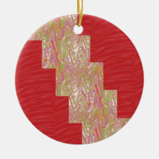 SILKY Waves n Elegant Red Fabric Print - LOW PRICE Christmas Ornament