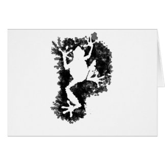 silluete Phibbie TShirt+black_trans copy Greeting Card