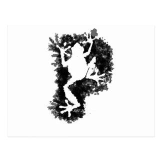 silluete Phibbie TShirt+black_trans copy Postcard