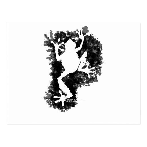silluete Phibbie TShirt+black_trans copy Post Card