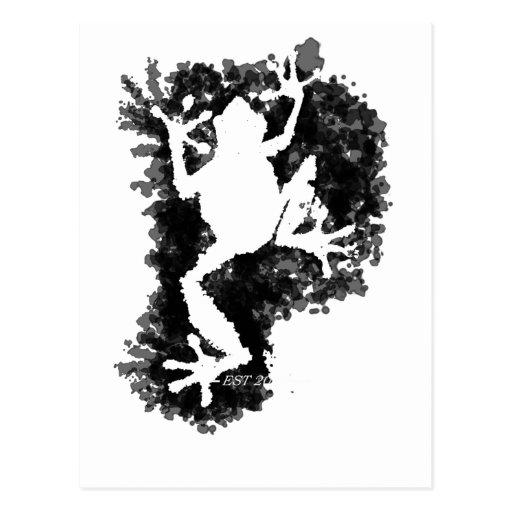 silluete Phibbie TShirt+black_trans copy Post Cards