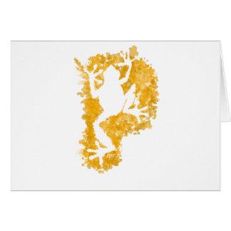 silluete Phibbie TShirt+gold_trans copy Greeting Card