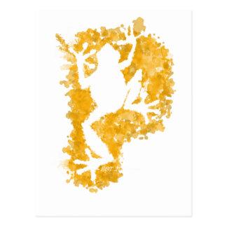 silluete Phibbie TShirt+gold_trans copy Postcard