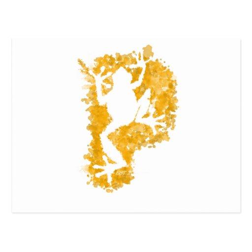 silluete Phibbie TShirt+gold_trans copy Post Card