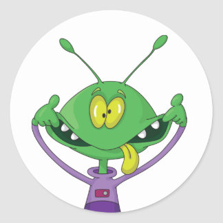 Silly Alien Halloween Sticker